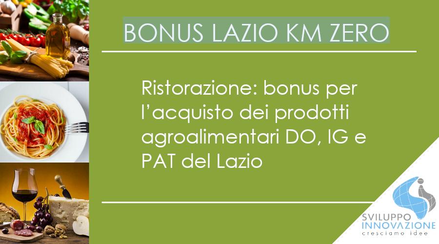Bonus Lazio KM Zero