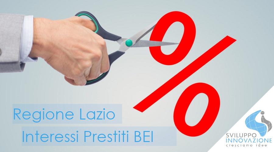 interessi prestiti BEI Regione Lazio