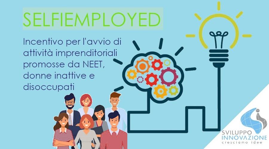 SELFIEmployed avvio attività NEET, donne, inoccupati