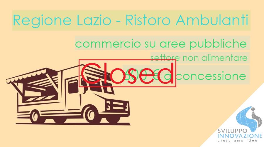 Ristori ambulanti Lazio - non alimentari