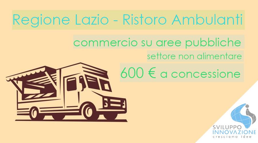 Ristoro ambulanti Lazio