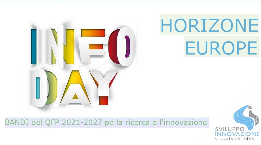 infoDay HORIZON EUROPE 2021 bandi
